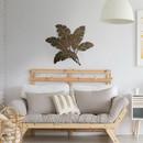Benzara BM07982 12 Drawer Wooden Dresser with Grain Details, Distressed Brown