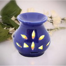 Benzara BM113370 Benzara Ceramic Handmade Oil Diffuser/Warmer In Royal Blue