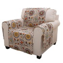 Benjara BM116911 Polyester Arm Chair Protector with Floral Print, Multicolor