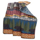 Benjara BM116914 60 x 50 Inches Cotton Face Throw with Bear and Mountain Print, Multicolor
