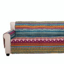 Benjara BM116972 Polyester Loveseat Protector with Tribal Print, Multicolor