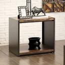 Benzara BM119864 Matte Black End Table