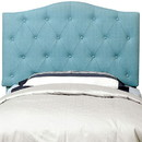 Benzara BM122790 Alipaz Contemporary Twin Size Headboard, Blue