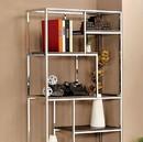 Benzara BM122819 Elvira Contemporary Display Shelf, Chrome Finish