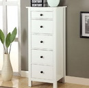 Benzara BM122952 Well-designed Wooden Chest With 5 Drawers, White