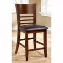 Benzara BM122959 Hillsview I Transitional Counter Hight Chair, Brown Cherry, Set Of 2