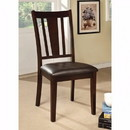 Benzara BM122993 Bridgette I Solid Wood Side Chair, Set Of 2