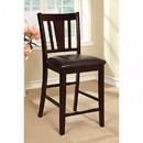 Benzara BM123034 Bridgette II Leatherette Parson Chair Counter Height Chair, Set Of 2
