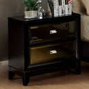Benzara BM123068 Golva Contemporary Style Nightstand, Black