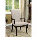 Benzara BM123077 Ornette Contemporary Style Arm Chair, Espresso-Set Of 2