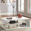 Benzara BM123078 Ninove I Contemporary Style Coffee Table, White
