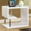 Benzara BM123079 Ninove I Contemporary Style End Table, White