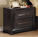 Benzara BM123149 Bradley Transitional Nightstand, Dark Gray Finish