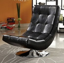 Benzara BM123154 Trinidad Contemporary Swivel Chair, Black