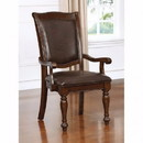 Benzara BM123165 Alpena Traditional Arm Chair, Brown Cherry, Set Of 2