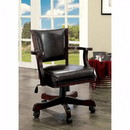 Benzara BM123168 Rowan Contemporary Arm Chair, Dark Cherry Finish