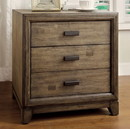Benzara BM123207 Antler Transitional Night Stand, Natural Ash