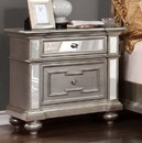 Benzara BM123245 Salamanca Contemporary Night Stand In Silver