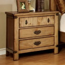 Benzara BM123268 Pioneer Cottage Night Stand In Weathered Elm Finish