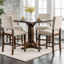 Benzara BM123551 Glenbrook Brown Cherry And Ivory Counter Height Dining Table