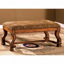 Benzara BM123637 Vale Royal Traditional Bench, Antique Oak