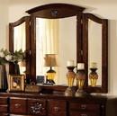 Benzara BM123681 Tuscan II Traditional Style Tri-Fold Mirror , Dark Pine