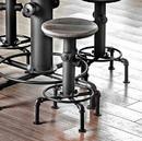 Benzara BM123799 Foskey Industrial Counter Hydrant Chair Set Of 2, Antique Black