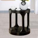 Benzara BM123836 Carrie Transitional End Table, Antique Black