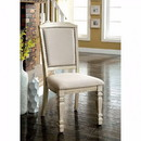 Benzara BM131136 Holcroft Transitional Side Chair, Antique White, Set Of Two