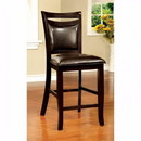 Benzara BM131169 Woodside II Transitional Counter Height Chair Expresso, Set Of Two