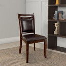 Benzara BM131170 Woodside Transitional Side Chair , Expresso Finish, Set Of 2