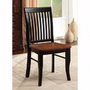 Benzara BM131177 Earlham Cottage Side Chair, Antique Oak, Black, Set Of 2