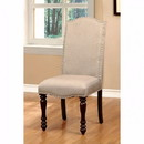 Benzara BM131184 Hurdsfield Cottage Side Chair, Cherry Finish, Set Of 2