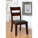 Benzara BM131201 Dickinson I Cottage Side Chair Withpu Seat, Dark Cherry, Set Of 2