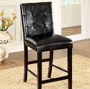 Benzara BM131202 SideBahamas Contemporary counter height Chair With Black Finish, Set of Two Chair With Black Finish, Set Of Two