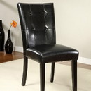 Benzara BM131203 Boulder I Contemporary Side Chair, Set Of Two, Black