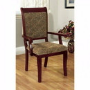 Benzara BM131217 St. Nicholas I Traditional Arm Chair, Antique Cherry, Set Of 2
