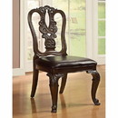 Benzara BM131229 Bellagio Traditional Wooden Carving Side Chair, Set Of 2