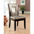 Benzara BM131231 Evant I Contemporary Side Chair, Black Finish, Set Of 2