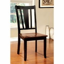 Benzara BM131241 Dover Side Chair Withwooden Seat, Cherry & Black Finish, Set Of 2