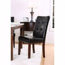 Benzara BM131260 Marstone Transitional Side Chair, Brown Cherry & Black, Set Of 2
