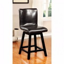 Benzara BM131269 Hurley 180O Swivel Counter Height Chair, Black Finish, Set Of 2
