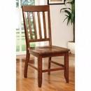 Benzara BM131273 Foster I Transitional Side Chair, Dark Oak Finish, Set Of 2