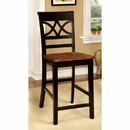 Benzara BM131288 Torrington II Cottage Counter Height Chair, Black & Oak , Set Of Two