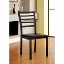 Benzara BM131306 Colman Transitional Side Chair (Full Assembly), Black Finish, Set Of 4