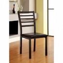 Benzara BM131307 Colman Transitional Side Chair, Knockdown, Black, Set Of 4