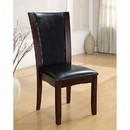 Benzara BM131322 Manhattan I Contemporary Side Chair, Dark Cherry Finish, Set Of 2