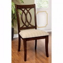 Benzara BM131334 Carlisle Transitional Side Chair, Brown Cherry Finish, Set Of 2