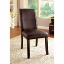 Benzara BM131338 Gladstone I Contemporary Side Chair, Dark Walnut Finish, Set Of 2