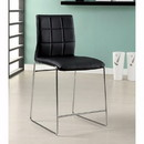 Benzara BM131371 Kona II Contemporary Counter Height Chair, Black Finish, Set Of Two